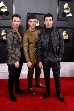 I Jonas Brothers in Zegna alla cerimonia dei Grammy Awards