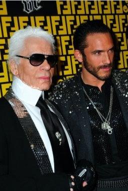 Karl Lagerfeld assieme a Sebastien Jondeau