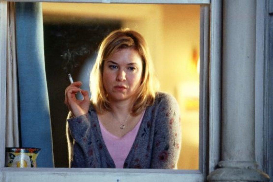 Una scena dal film Il diario di Bridget Jones, con Renée Zellweger