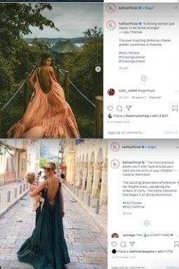 ... Anche se l'effetto delle foto non è proprio originale, il successo del vestito è indiscutibile