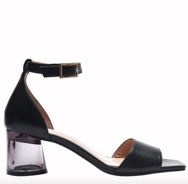 Sandalo con tacco trasparente, Valleverde