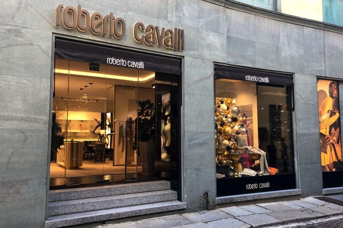 La boutique Roberto Cavalli a Milano