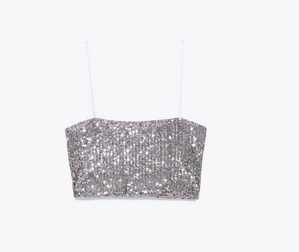 Mini top di paillettes, Zara