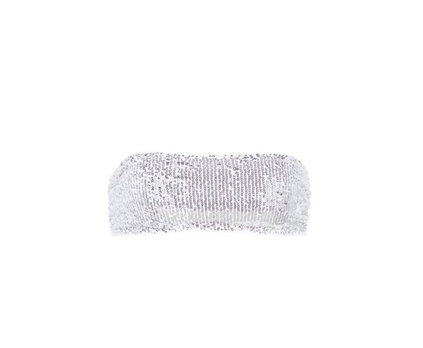 Costume a fascia con paillettes argento, Calzedonia