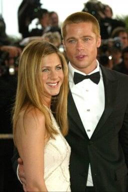 Jennifer Aniston e Brad Pitt nel 2004 alla première di Troy