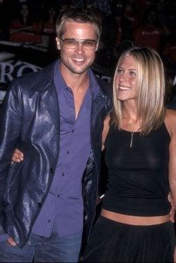 Brad Pitt e Jennifer Aniston nel 2001