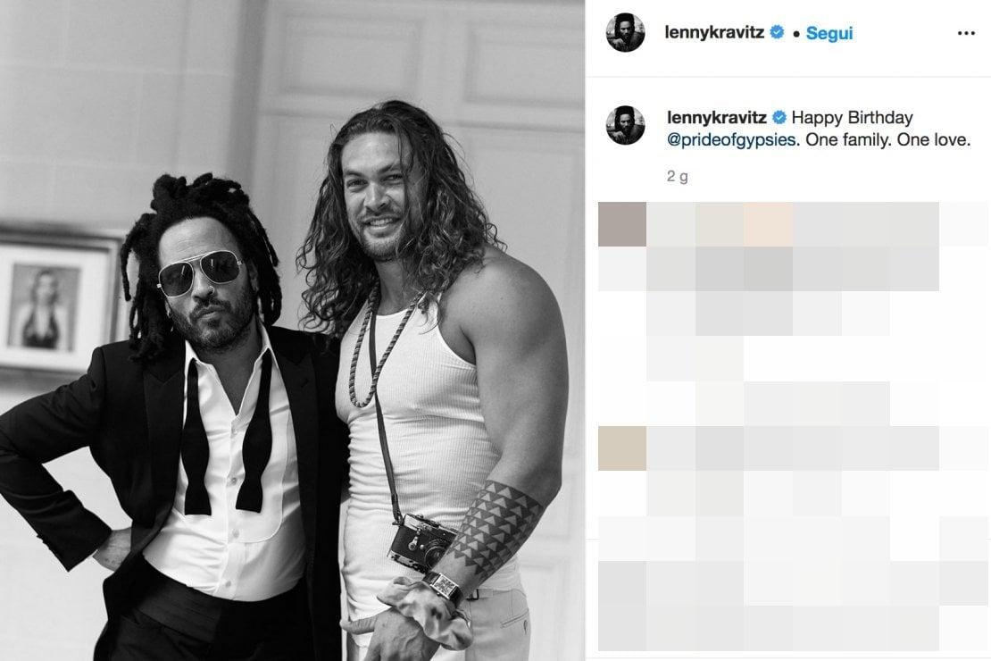 Screenshot dall'account Instagram di Lenny Kravitz