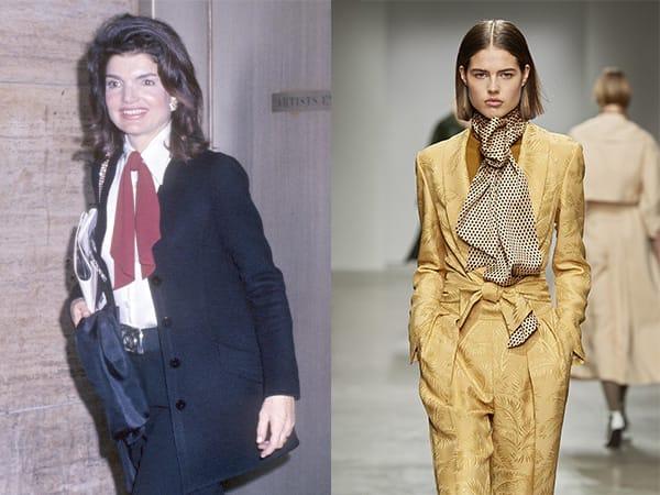 Il foulard al collo anni '70Jackie Kennedy nel 1971 - K. Fidelskaya