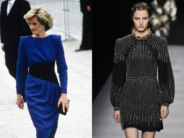 L'abito con spalline imbottite anni '80Lady Diana nel 1985 - Alberta Ferretti