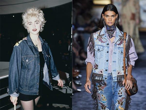 La giacca di denim anni '80Madonna nel 1986 - Etro
