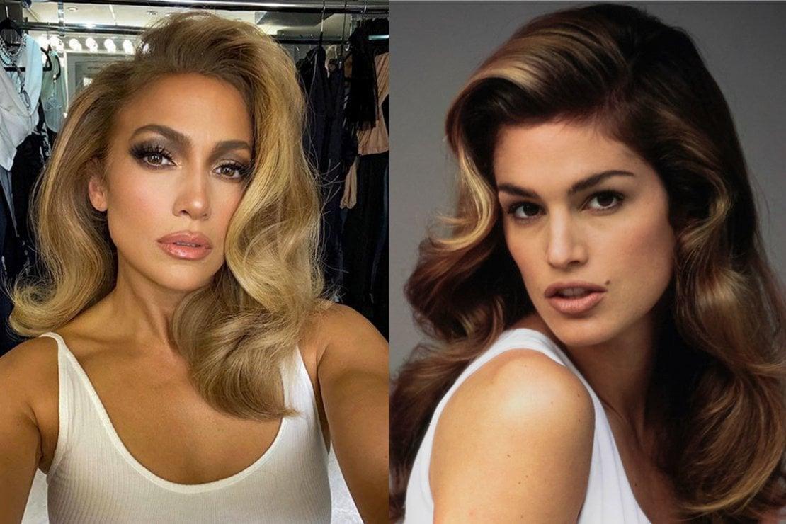 Capelli voluminosi come Cindy Crawford: il nuovo look di Jennifer Lopez si ispira agli anni '90