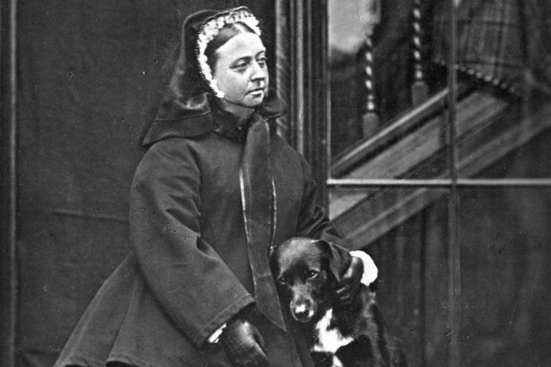 La regina Vittoria con Sharp a Balmoral Castle