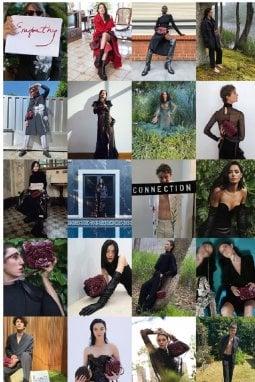Alcune immagini del progetto Empathy, la campagna pubblicitaria per le collezioni autunno/inverno del marchio romano, realizzata dai diversi testimonial in casa propria, durante il lockdown