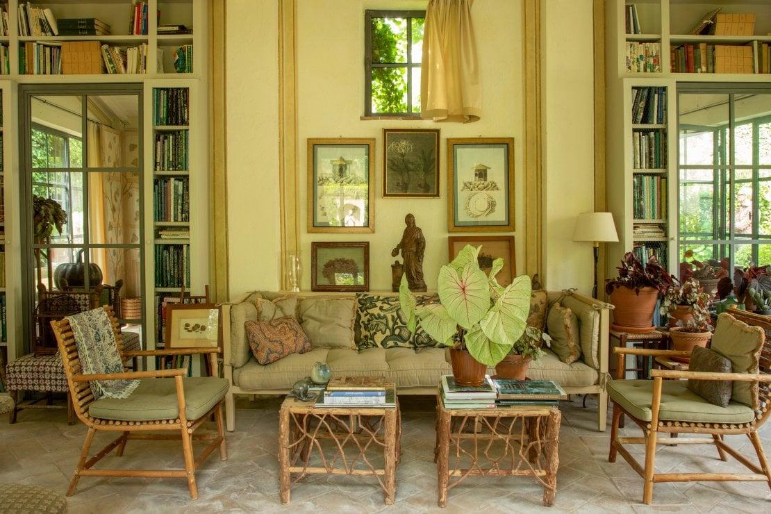 La casa di Cetona di Forquet. Padiglione con salotto estivofoto Guido Taroni