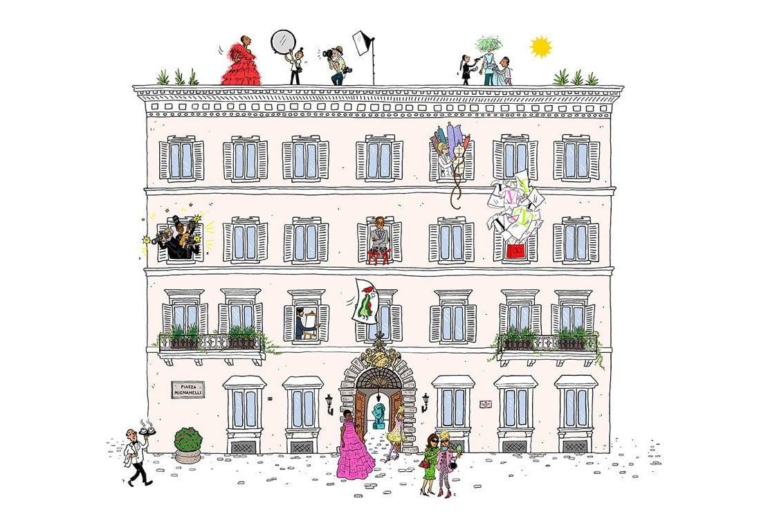 Chez Maison Valentino: alla scoperta dei segreti della casa di moda con le animazioni di Joana Avillez