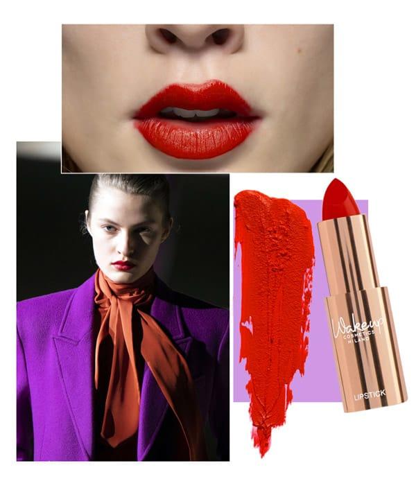 Bocca Libertine. Rossetto Wakeup Cosmetics Milano. Sfilata Yves Saint Laurent