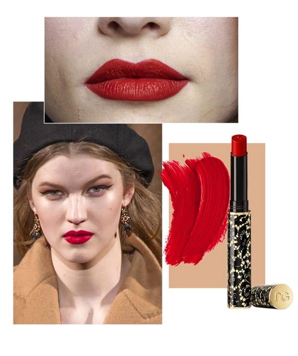 Bocca Jil Sander. Rossetto Dolce&Gabbana.; Sfilata Dolce&Gabbana;