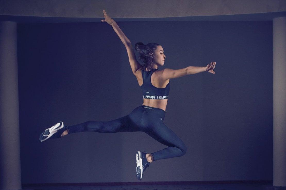 Alessia Maurelli, capitano della squadra nazionale di ginnastica ritmica è tra gli atleti che hanno testato i Freddy Energy Pants