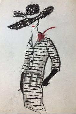 Tailleur per Carosa 1960 ca collezione privata