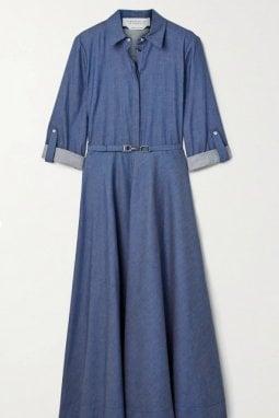 L'abito Marley appartiene alla collezione pre-fall 2020 di Gabriela Hearst. In vendita a circa 1.365 euro