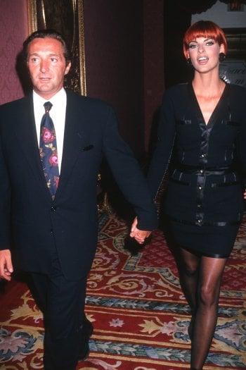 Gerald Marie e Linda Evangelista nel 1991, all'epoca del loro matrimonio (1987-1993)