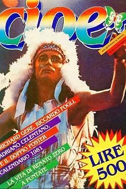 Renato Zero sulla cover di un numero del 1981