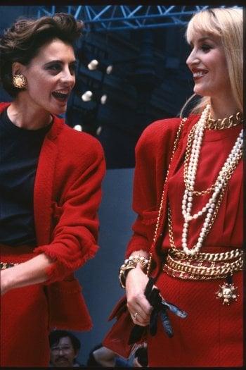 Ines de la Fressange e Jerry Hall- Haute Couture a/i 1986-87                   © firstVIEW