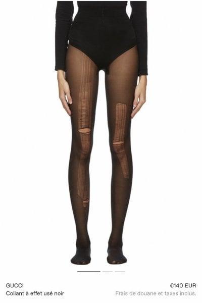 Gucci, sold out per le calze smagliate vendute a 140 euro