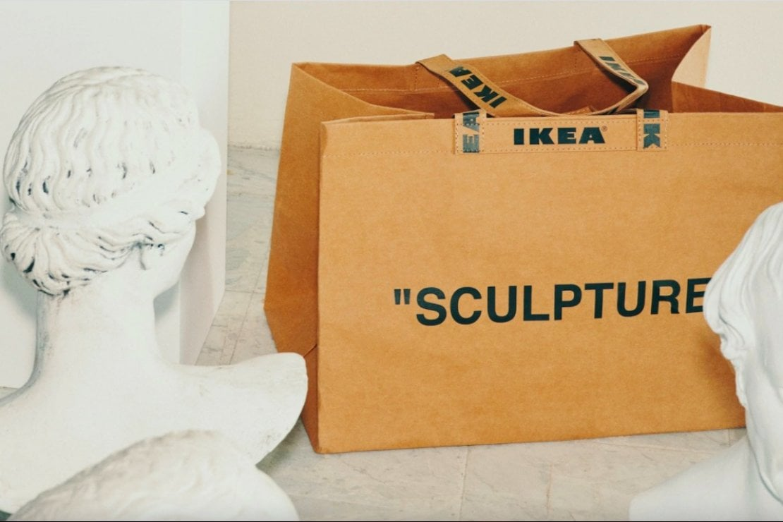 La shopping bag di Virgil Abloh per Ikea