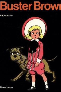 La copertina di un fumetto Buster Brown