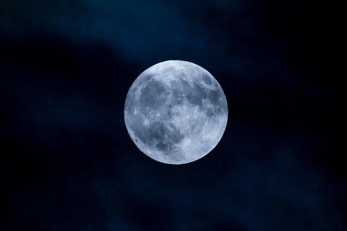 La Luna piena visibile da Berlino