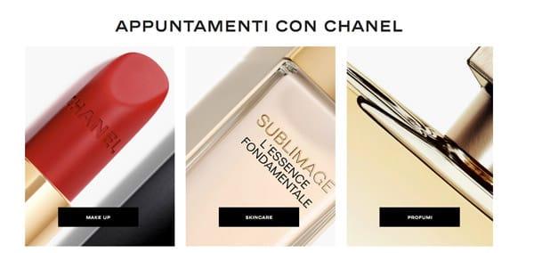 Per prenotare un appuntamento personalizzato con un consulente Chanel
