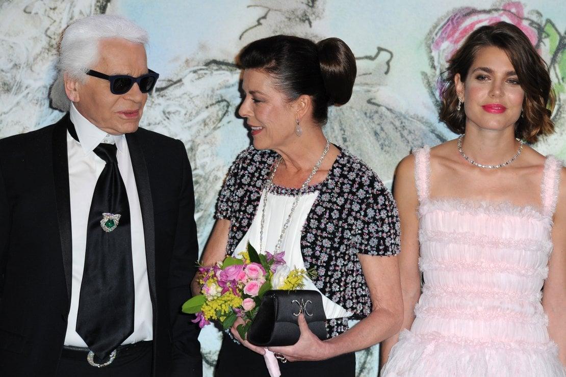 Karl Lagerfeld, Princess Caroline of Hanover e Charlotte Casiraghi al 'Bal De La Rose Du Rocher' 2013