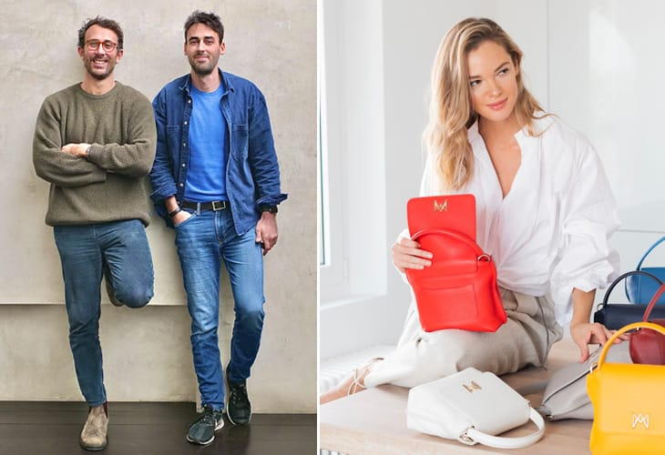 I tre fondatori di Impossible Brands: a sinistra Edoardo Di Luzio e Alessandro Botteon; a destra Anastasiia Masiutkina D'Ambrosio