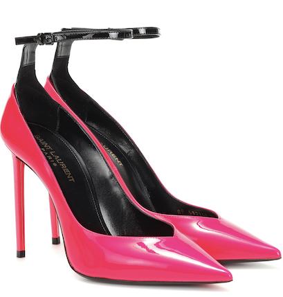 Pump con lacci alla caviglia, Yves Saint Laurent in vendita su My Theresa