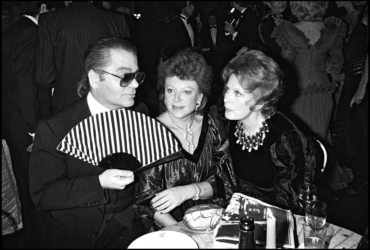 Con Karl Lagerfeld nel 1962