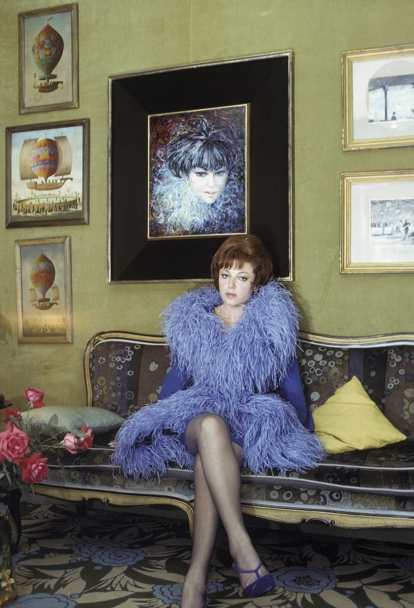 Nella sua casa di Parigi, 1960