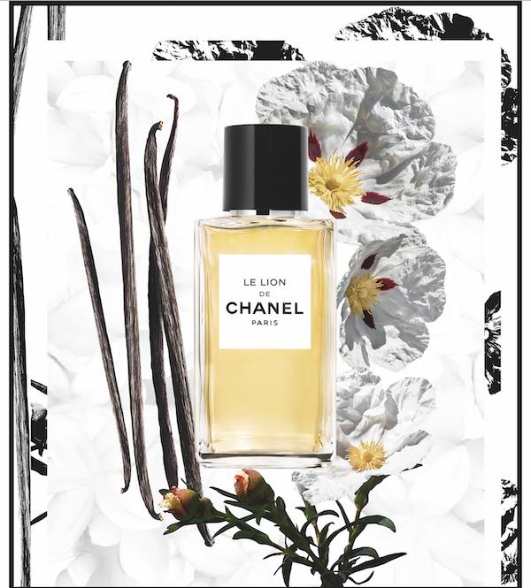Note ambrate e accenti del cuoio del labdano e del patchouli sono ammorbiditi e ravvivati dalla vaniglia, dal bergamotto e dal limone, profumo Le Lion di Chanel Les Exclusif (175 euro, 75 ml)
