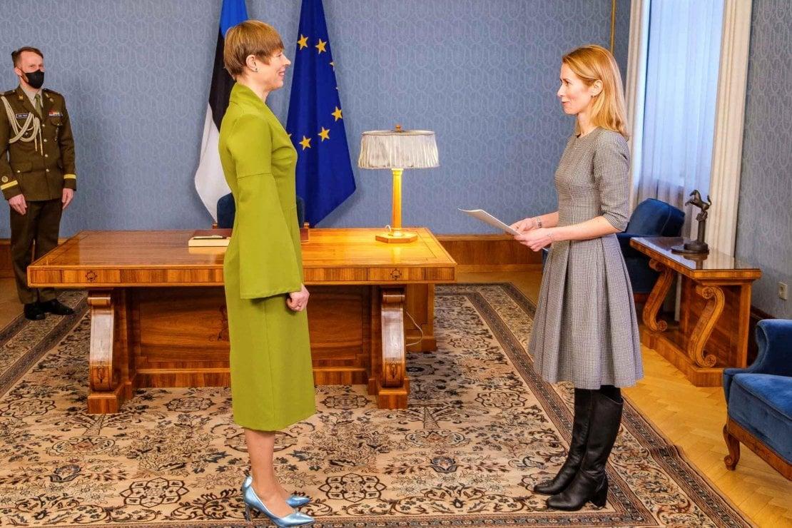 La Presidente Kersti Kaljulaid e Kaja Kallas