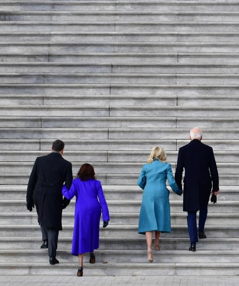 Inauguration day, da Jill Biden a Kamala Harris e Michelle Obama: tutti i look visti al Campidoglio