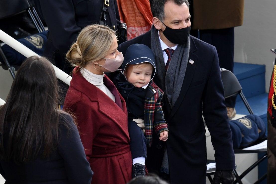 Hunter Biden, figlio del presidente e padre di Finnegan, Maisy e Beau, con la moglie Melissa Cohen e la loro bambina Naomi Biden