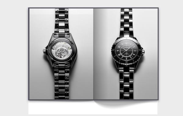Orologio J12 Calibro 12.1 in acciaio e ceramica nera ad alta resistenza. © CHANEL / 2019Courtesy CHANEL WATCHES