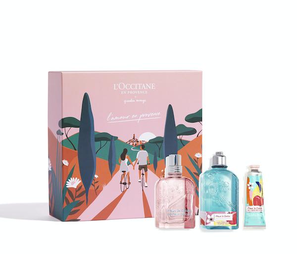 L'Occitane celebra l'amore vestendo i cofanetti di un design esclusivo e romantico realizzato dall'illustratore francese Quentin Monge.Contiene Gel mani, doccia ed eau de toilette