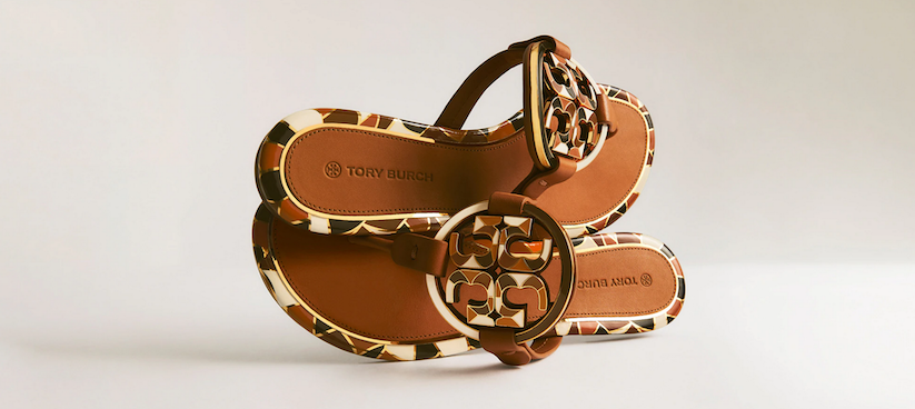 Sandali con maxi logo, Tory Burch