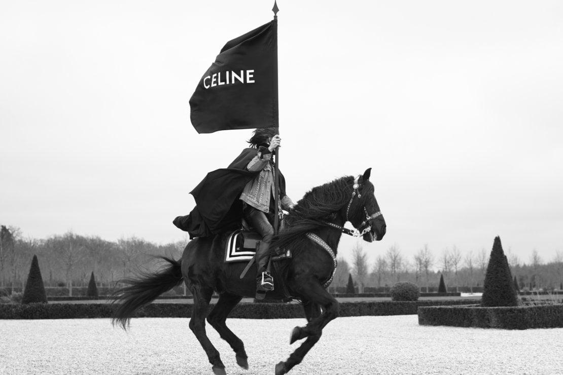 Celine, sfilata al castello