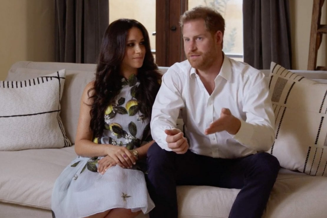 Meghan ed Harry durante l'evento Spotify Stream on event, Youtube