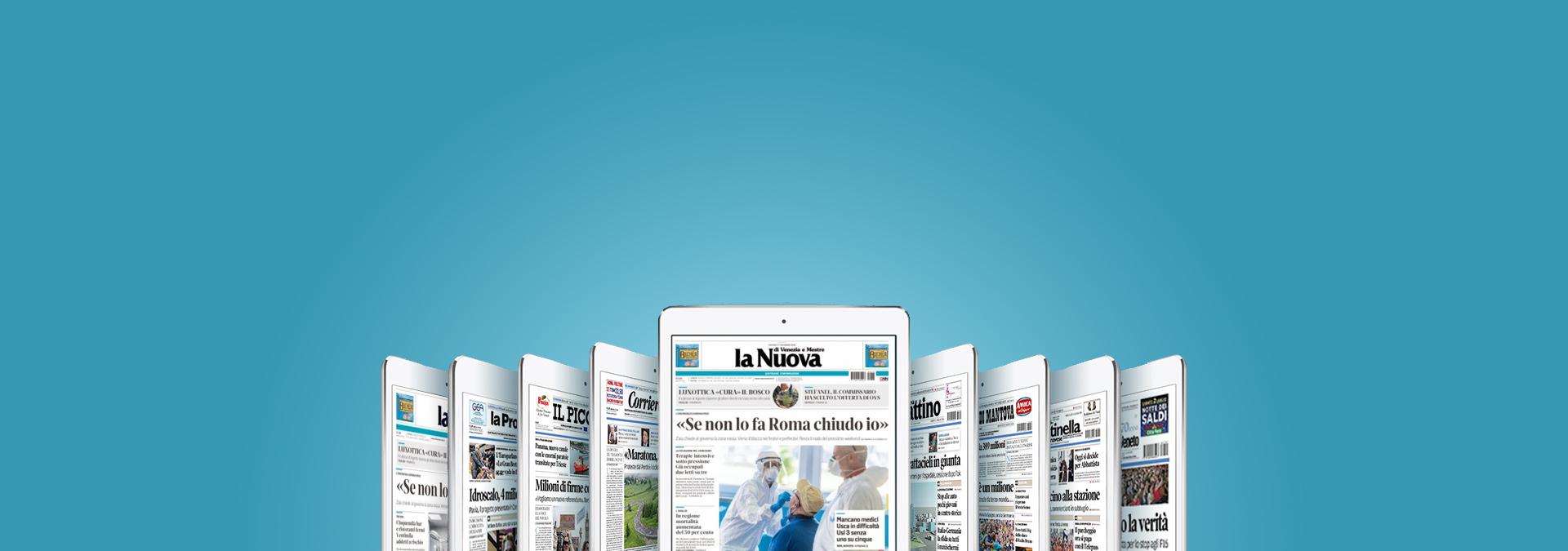 Sfoglia il tuo quotidiano locale