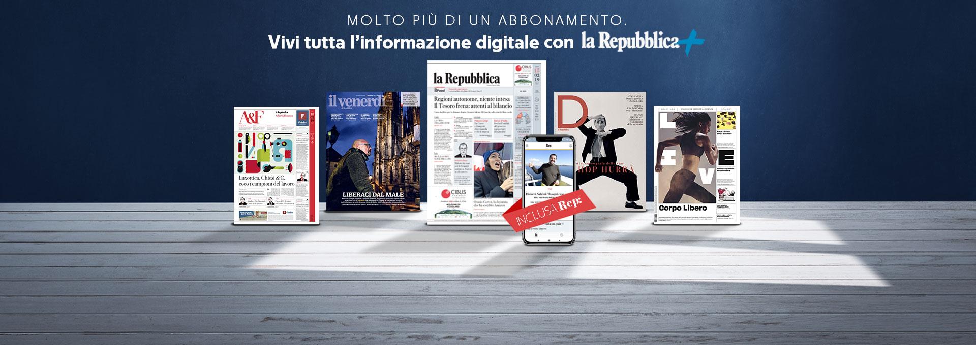 La Repubblica Il Tuo Quotidiano In Digitale