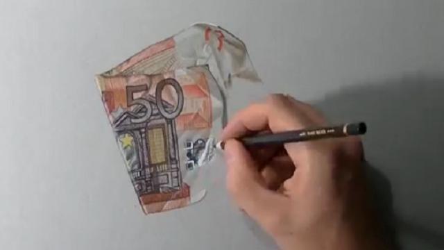 Il disegno da non credere 50 euro sembrano veri video for Immagini da copiare a mano