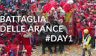 Carnevale di Ivrea: il primo giorno di battaglia della arance